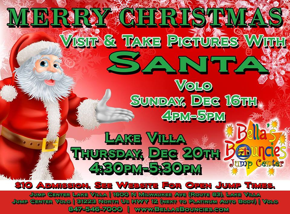 Visit and Take Pictures with Santa